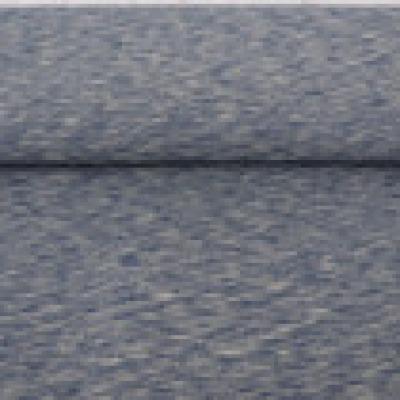 Reststück Jersey melange meliert 2-Tone rauchblau sand Denim - Reststück 0,40 m