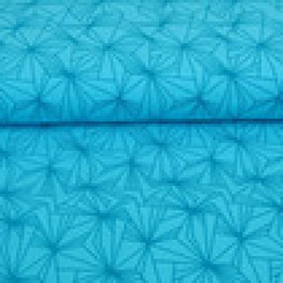 Reststück Jersey türkis grafisch Linien Shapes