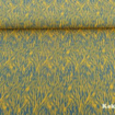 Reststück Jersey grau animalprint animal senf