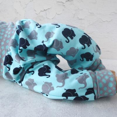 Pumphose Baby helles türkis mit Elefanten