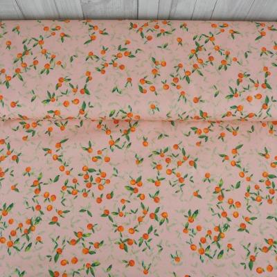 Jersey EUR/m kleine Orangen auf hellem