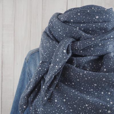 Tuch Dreieckstuch Musselin Damen grau mit