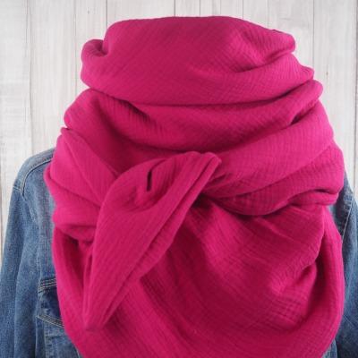 Tuch Dreieckstuch Musselin Damen Schal pink
