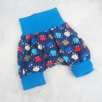 Pumphose Baby Krebse maritim blau mit