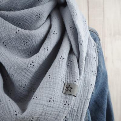 Tuch Dreieckstuch Musselin Damen Schal hellgrau