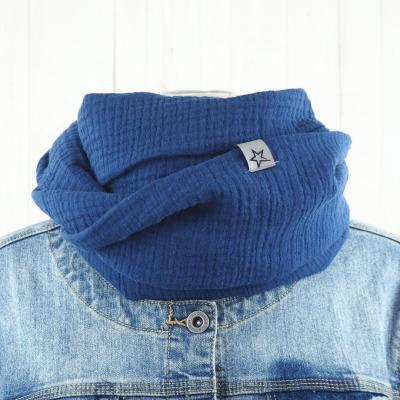 Loop Musselin Damen Loopschal jeansblau Versandkostenfreier
