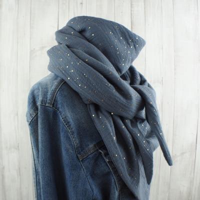 Tuch Dreieckstuch Musselin Damen Schal grau