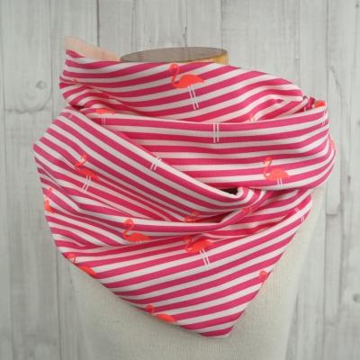 Loop Mädchen Schal Flamingos Schlauchschal Streifen