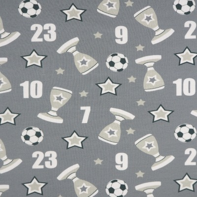 Jersey Baumwolljersey grau Pokalsieger Pokale und