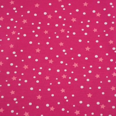 Jersey Sterne pink Sternchen und Punkte