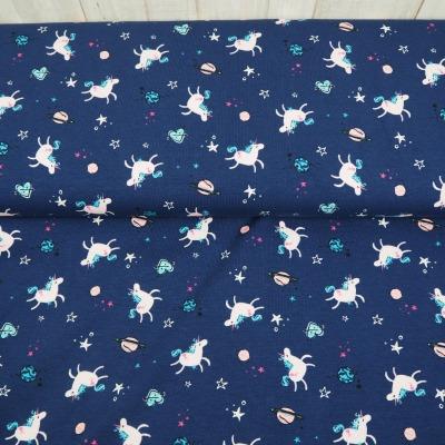 Jersey Einhorn Jersey dunkelblau mit Einhörnern