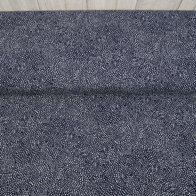 Jersey Pünktchen Punkte blau weiß Stoff