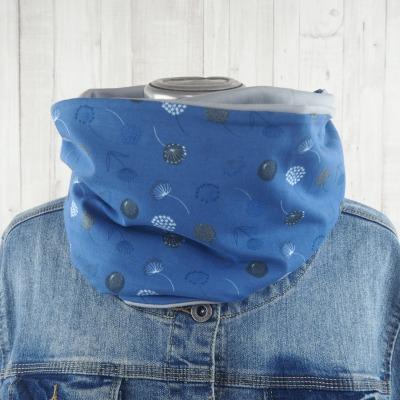 Loop Schal Loopschal Damen jeansblau und