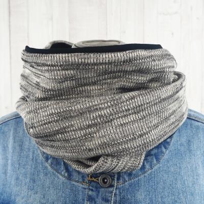 Loop Männer Frauen schwarz meliert Schal