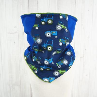 Schlupfschal Trecker blau grün Schal für
