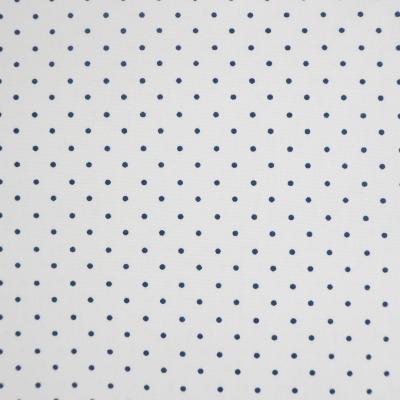 Baumwolle Punkte Patchwork Pünktchen weiß dunkelblau