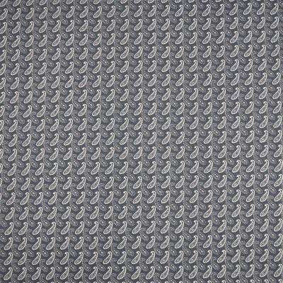 Baumwolle Paisley grau Webware kleingemustert Stoffe