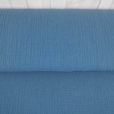 Musselin Double Gauze Windelstoff blau taubenblau