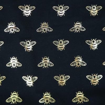 Jersey Bienen schwarz mit Foliendruck in