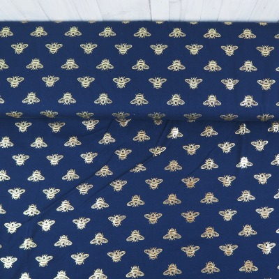 Jersey Bienen dunkelblau mit Foliendruck in