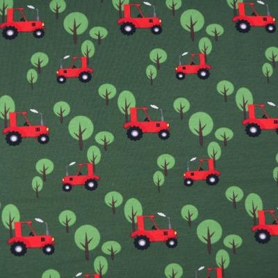 Jersey Trecker Traktor grün Treckerjersey Treckerstoff