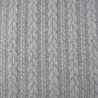 Jaquard Zopfmuster Jaquardstoff in grau mit