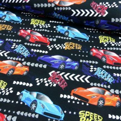 Jersey EUR/m Rennautos Speed Racer schwarz