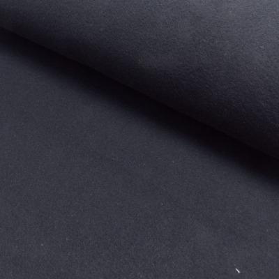 Baumwollfleece EUR/m Fleece Baumwolle schwarz Stoff