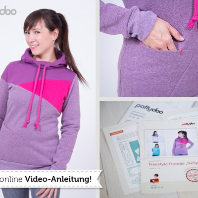 Pattydoo Schnittmuster Freestyle Hoodie Nelly mit