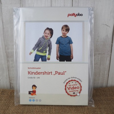 Pattydoo Schnittmuster Kindershirt Paul 92 - 146