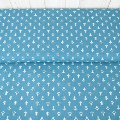 Baumwolle Anker jeansblau blau