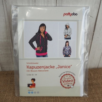 Pattydoo Schnittmuster Kapuzenjacke Janice 32 -54
