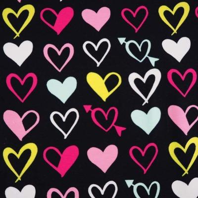 Jersey schwarz Herzen Herzchen