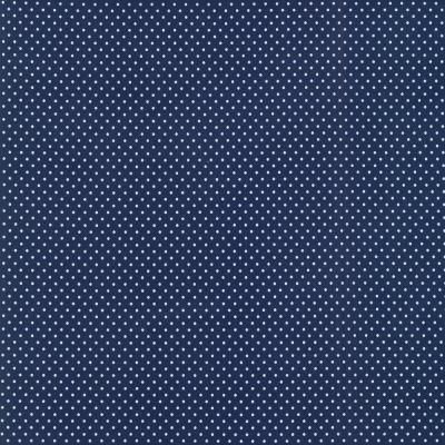 Jersey blau dunkelblau Punkte mm weiß