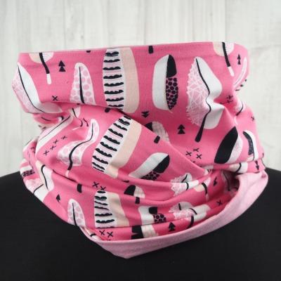 Loop Schal pink Federn rosa Versandkostenfreier
