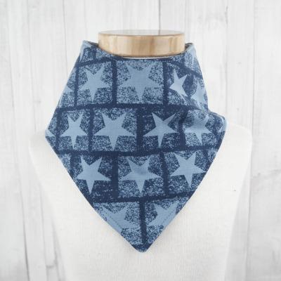 Halstuch Dreieckstuch Sterne blau Jerseytuch - Versandkostenfreier Artikel