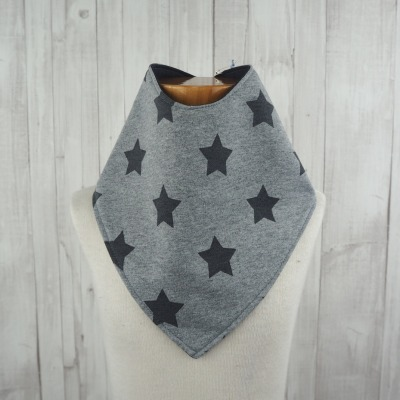 Halstuch Dreieckstuch Sterne grau Jerseytuch - Versandkostenfreier Artikel