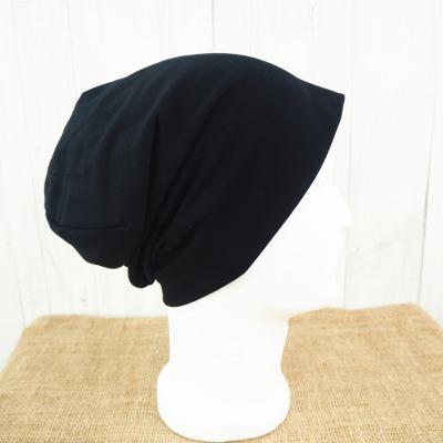 Beanie schwarz aus Jersey für Männer