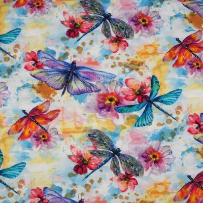 Jersey Libellen Blumen Aquarell Watercolour