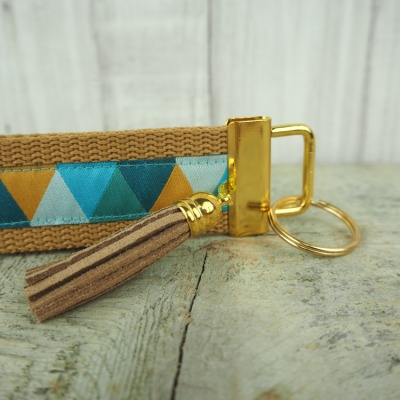 Schluesselband gold Tassel Quaste Dreiecke camel - Versandkostenfreier Artikel