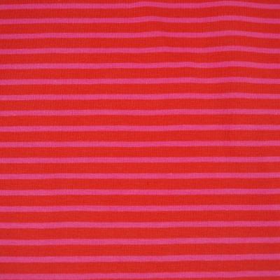 Jersey Ringel Streifen rot pink rosa
