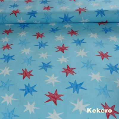 Baumwolle Sterne hellblau