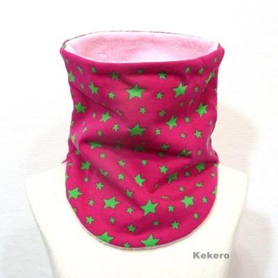 Loop Schlupfschal Halssocke Sterne pink Versandkostenfreier