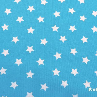 Jersey Sterne türkis weiß