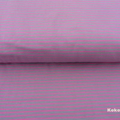 Jersey Ringel grau rosa Baumwolljersey