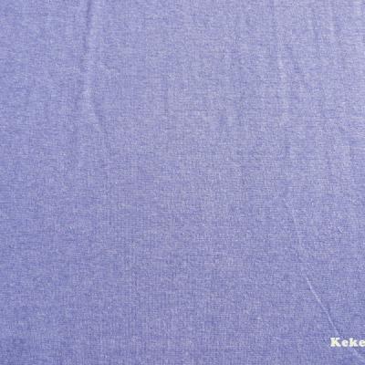 Bündchen blau meliert melange mittelblau