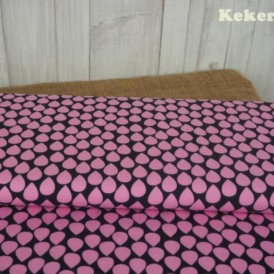 Jersey Tropfen dunkelgrau grau rosa