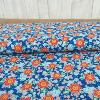 Baumwolle Flower Parade Swafing blau Blumen