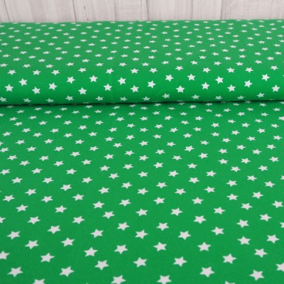 Jersey Sterne grün grasgrün weiß