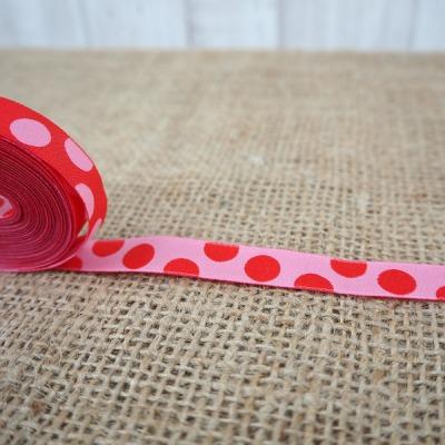 Webband rot pink Punkte Punktewebband